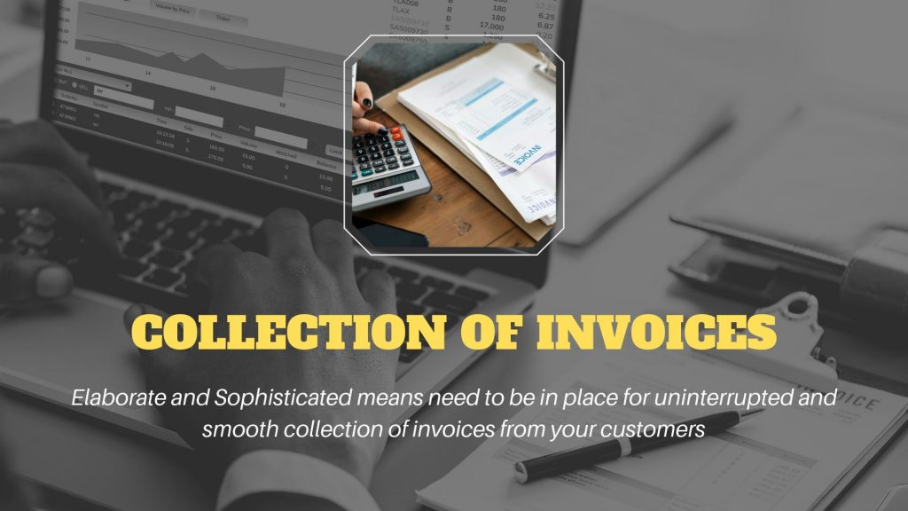 collection of invoices